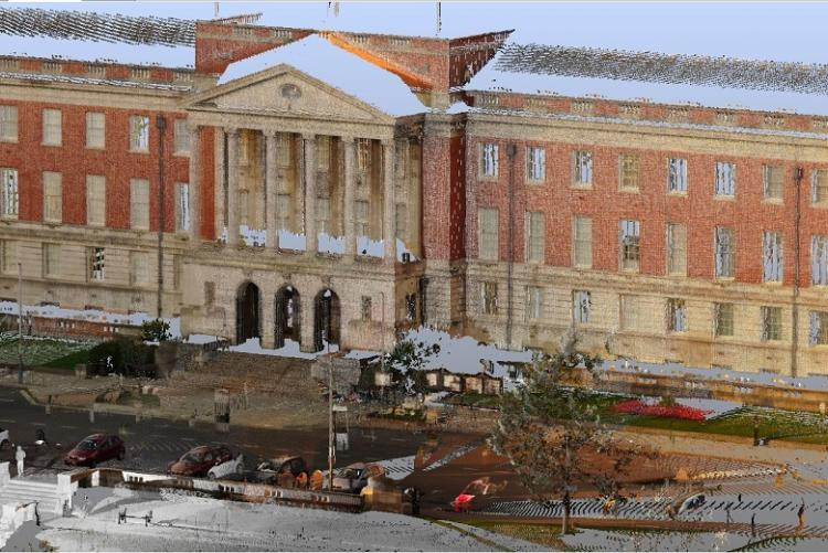 Our laser scanner allows fast precise building surveys